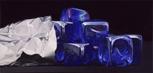 *Dei cubi di vetro blu